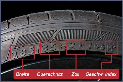 Reifengröße finden