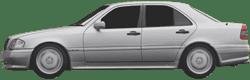 Bremssattel Bremszange 38mm hinten rechts Mercedes-Benz C-Klasse Kombi W202 S124