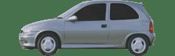 OPEL CORSA B /& COMBO Windschutzscheibe Frontscheibe GRÜN BLAUKEIL 1993-2001